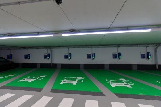 parking lot electro charging