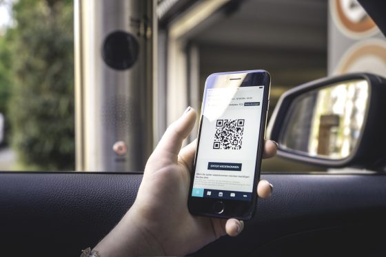 Scan QR Code to enter Parking space